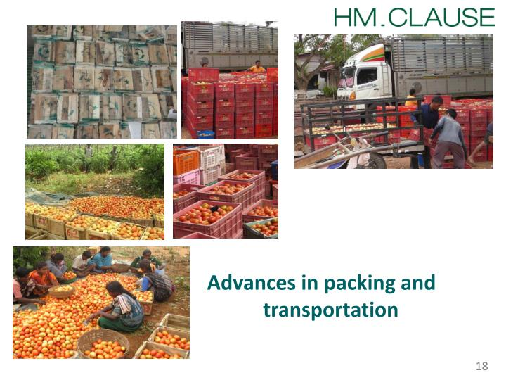 Advances in packing and transportation