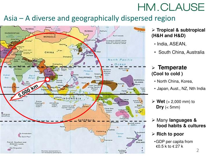Asia a diverse and geographically dispersed region
