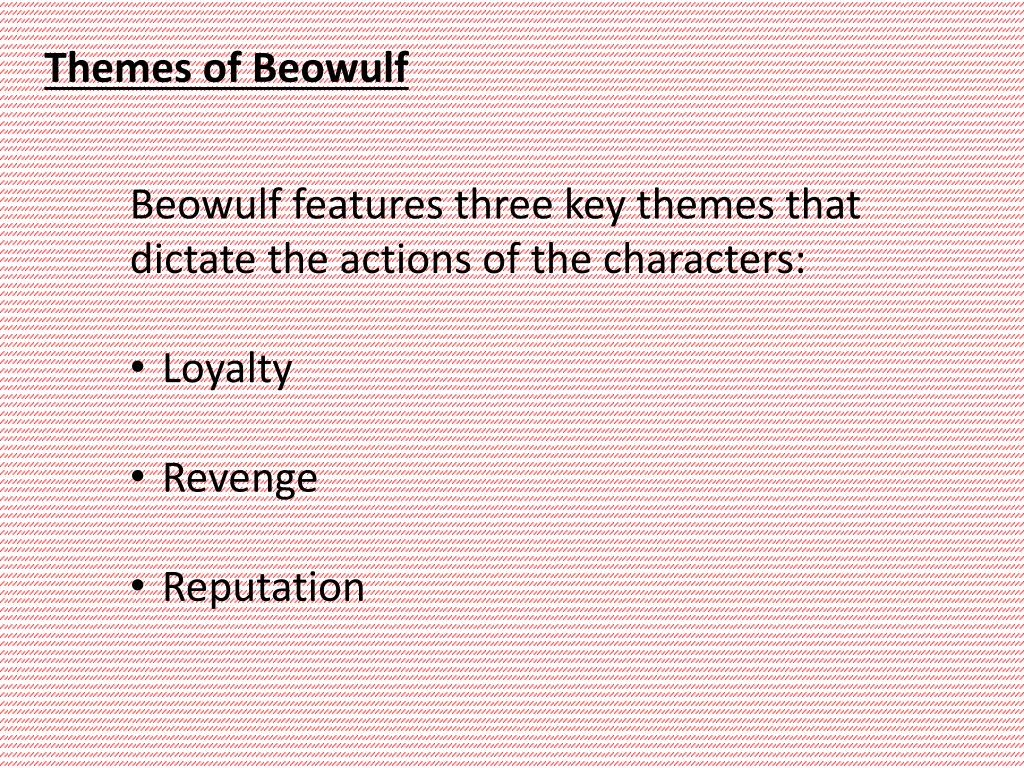 reputation in beowulf