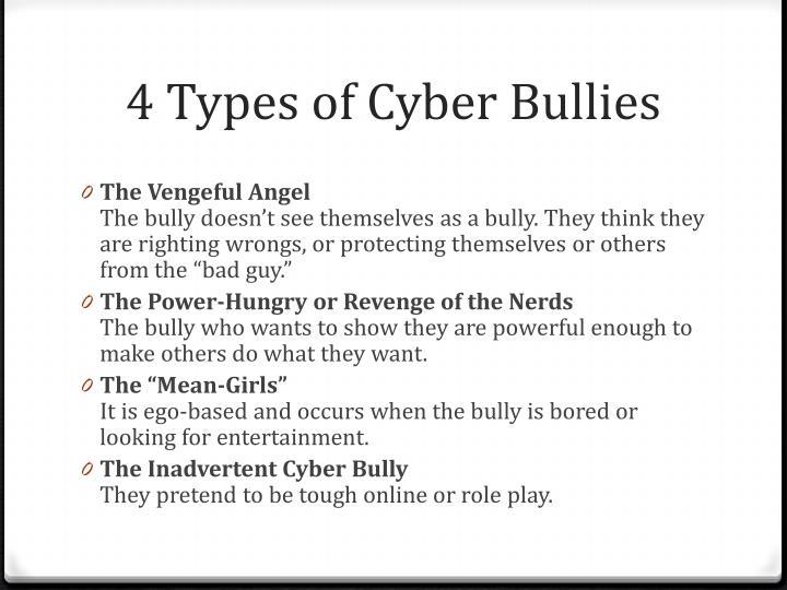 4 Types of Cyber Bullies