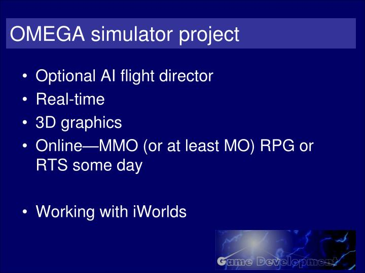 OMEGA simulator project
