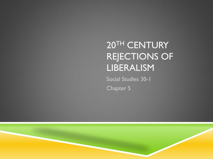 rejection of liberalism essay In this two-part assignment, you will consider historical reasons nations have rejected liberalism you will then select one piece of nazi or soviet propaganda that you feel represents best a rejection of liberalism and answers the questions that follow be sure to review all the readings from this section before you complete this assignment.