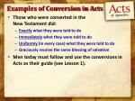examples of conversion in acts1