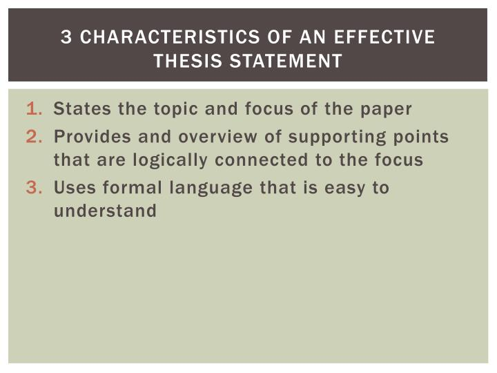 an effective thesis statement should quizlet A good thesis statement example - cheapbestessaybuytech a good thesis statement example will help you understand the difference between an effective and an ineffective thesis statement--a sentence that.