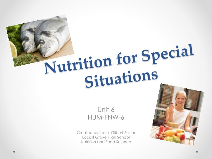 nutrition for special situations n.