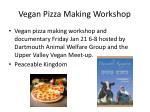 vegan pizza making workshop