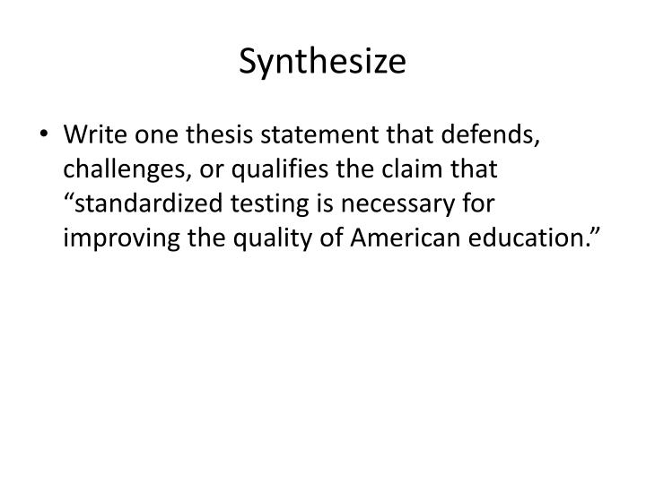defend challenge qualify thesis Ok so in my english class we have to either defend, challenge, or qualify this argumentative essay an author wrote in response to another author's book.