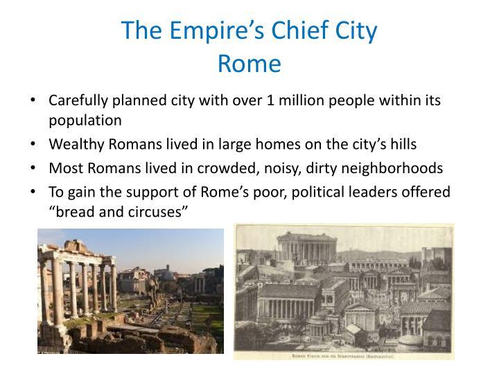 The empire s chief city rome