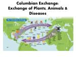 columbian exchange exchange of plants animals diseases