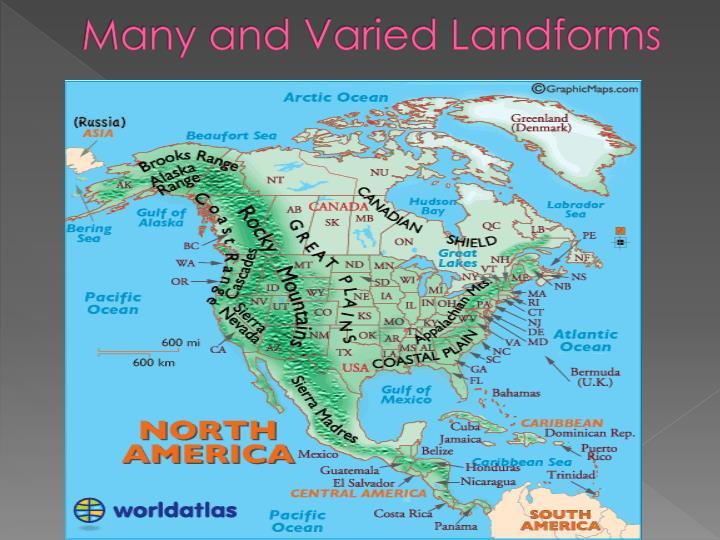 Many and Varied Landforms