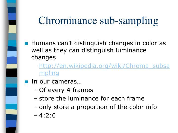 Chrominance sub-sampling
