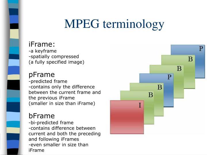 MPEG terminology