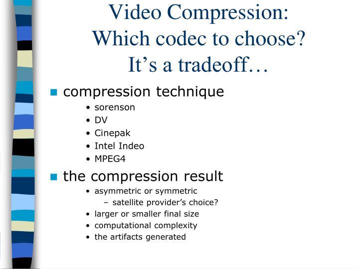 Video Compression: