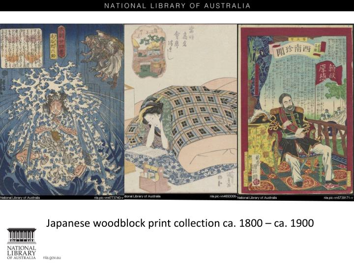 Japanese woodblock print collection ca. 1800 – ca. 1900
