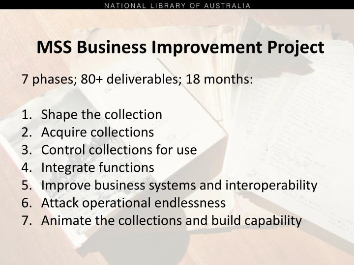 MSS Business Improvement Project