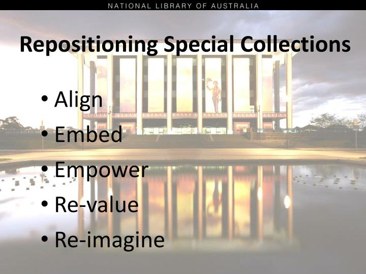 Repositioning Special Collections