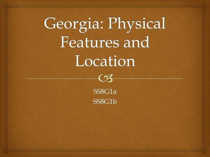georgia physical features and location n.