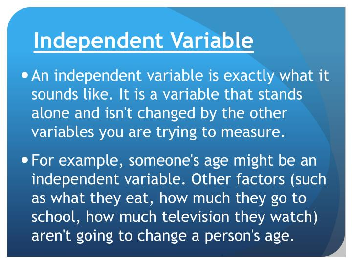 Ppt Independent Vs Dependent Variable Powerpoint Presentation