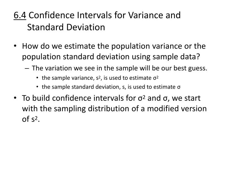 6 4 confidence intervals for variance and standard deviation1