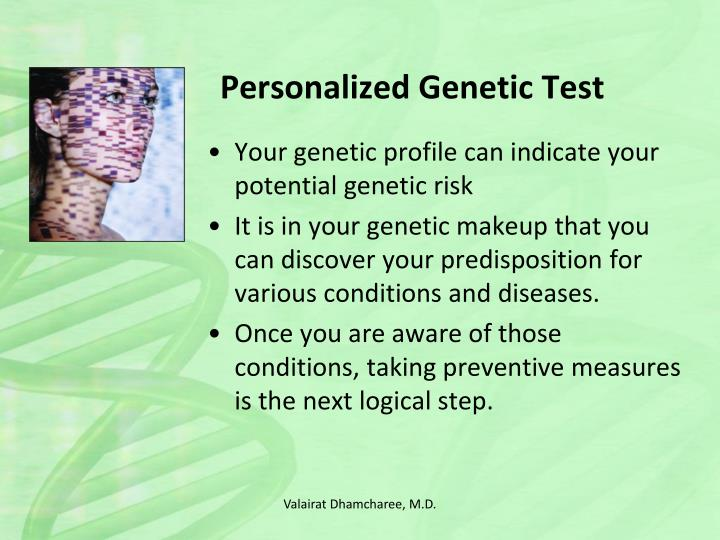 Personalized Genetic Test
