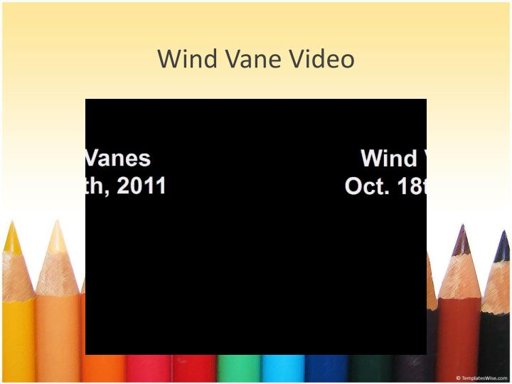 Wind vane video