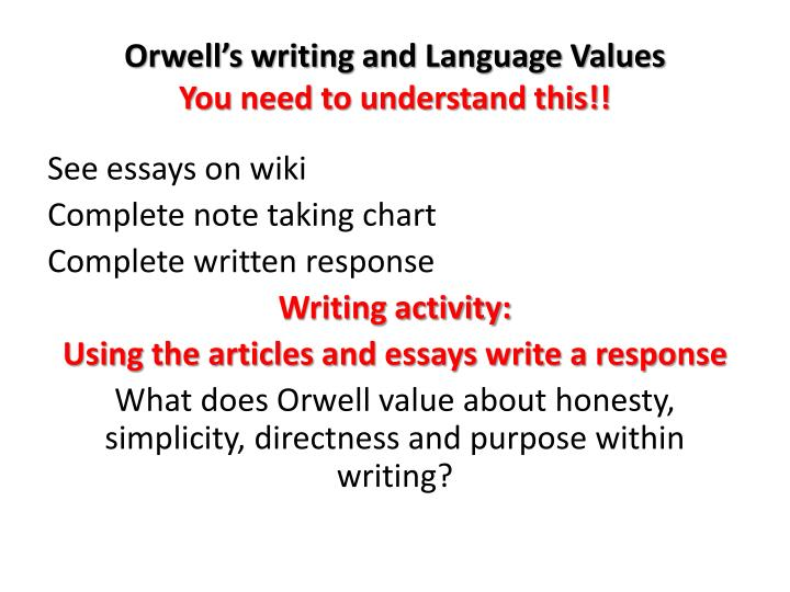 complete essays george orwell