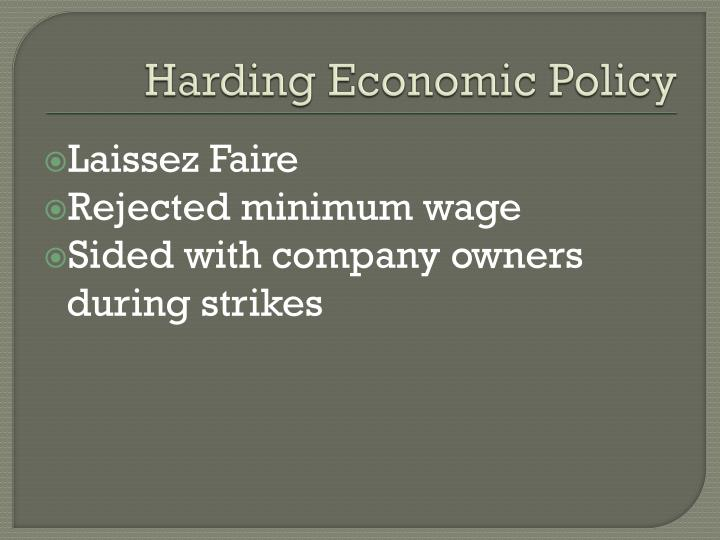 PPT - Harding & Coolidge Economic & Foreign Policy ...