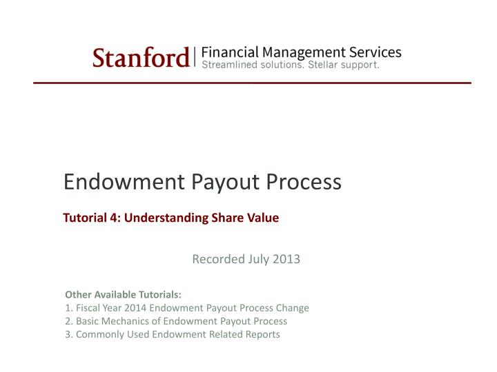 endowment payout process n.