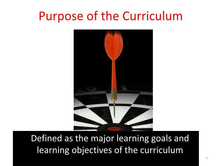 Purpose of the