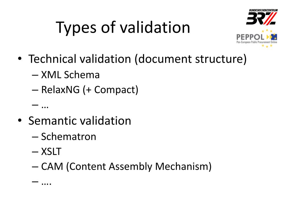 PPT - Document Validation for PEPPOL PowerPoint Presentation - ID