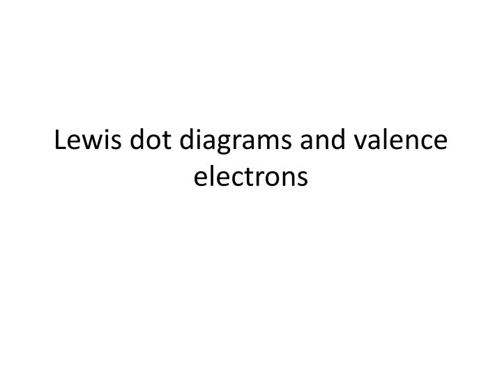 Ppt Lewis Dot Diagrams And Valence Electrons Powerpoint