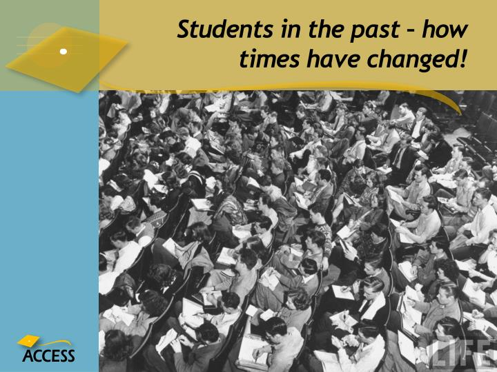 Students in the past – how times have changed!