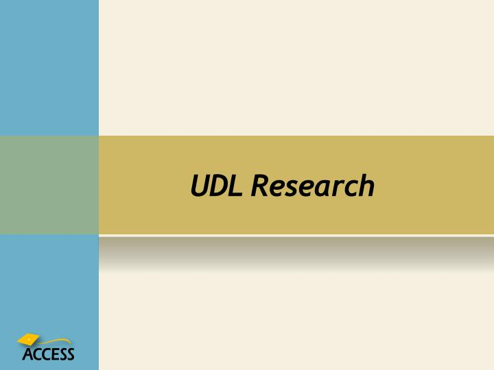 UDL Research
