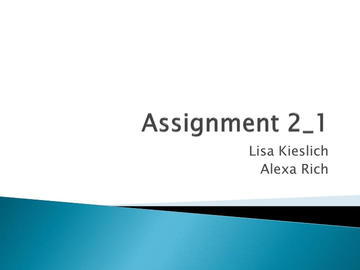 assignment 2 1 n.
