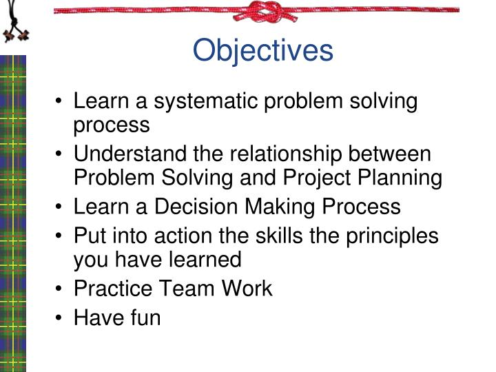 decision making and problem solving skills