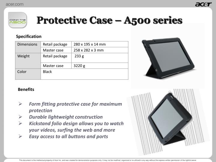 Protective Case – A500 series