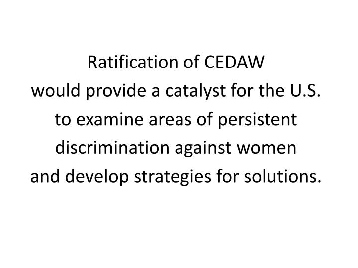 Ratification of CEDAW
