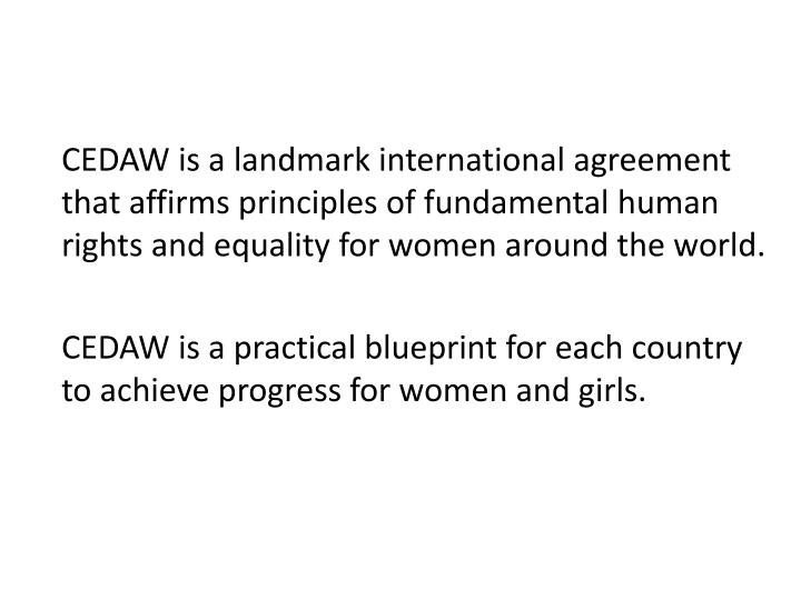 CEDAW is a