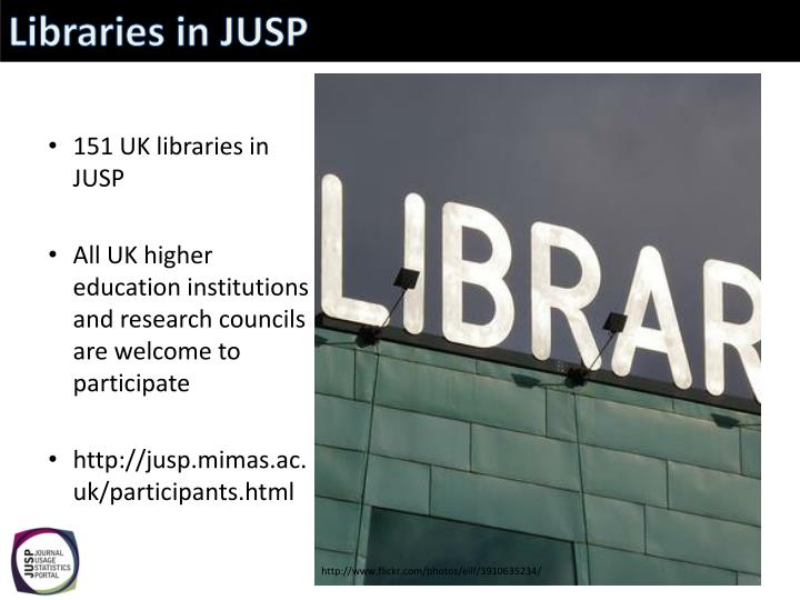Libraries in JUSP