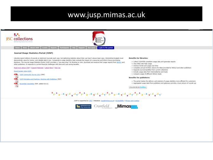 www.jusp.mimas.ac.uk