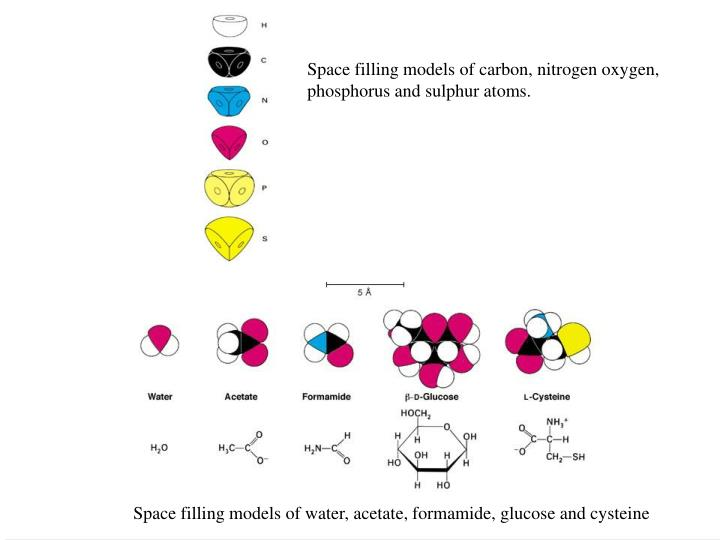 Space filling models of