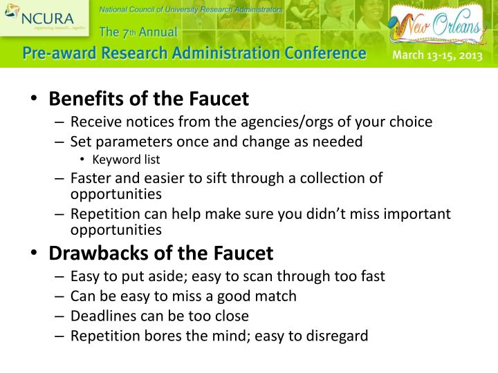 Benefits of the Faucet
