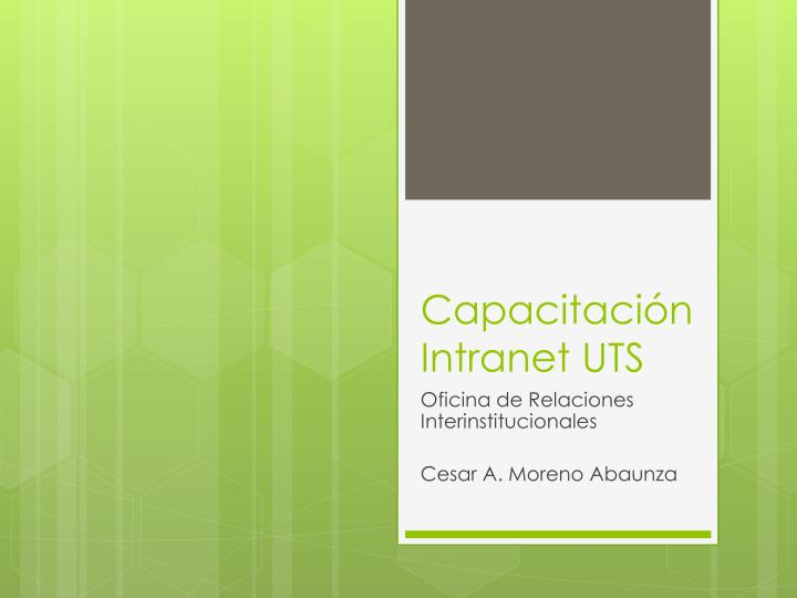 capacitaci n intranet uts n.