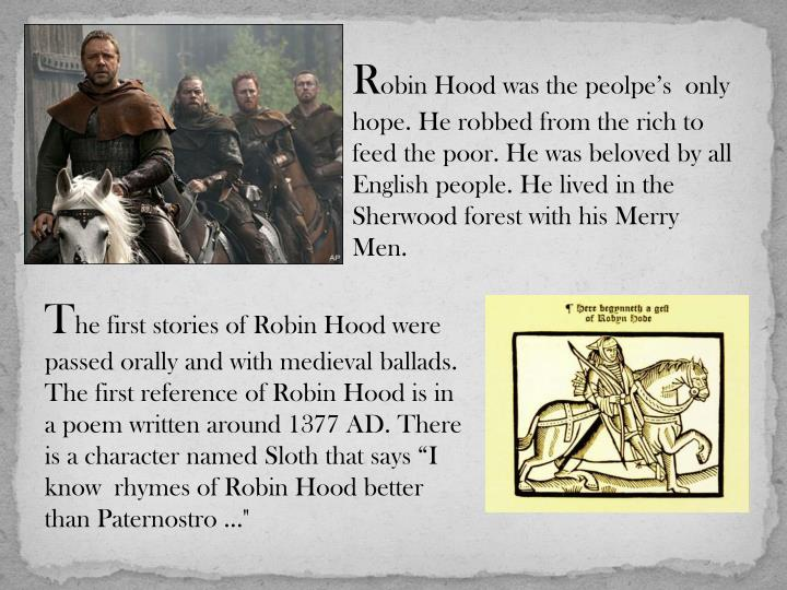 Robin hood a legendary hero