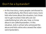 don t be a bystander