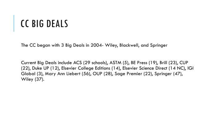 Cc big deals