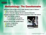 methodology the questionnaire