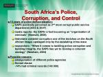 south africa s police corruption and control