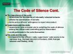 the code of silence cont