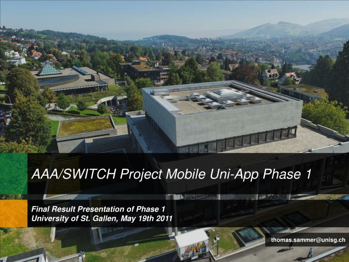 AAA/SWITCH Project Mobile